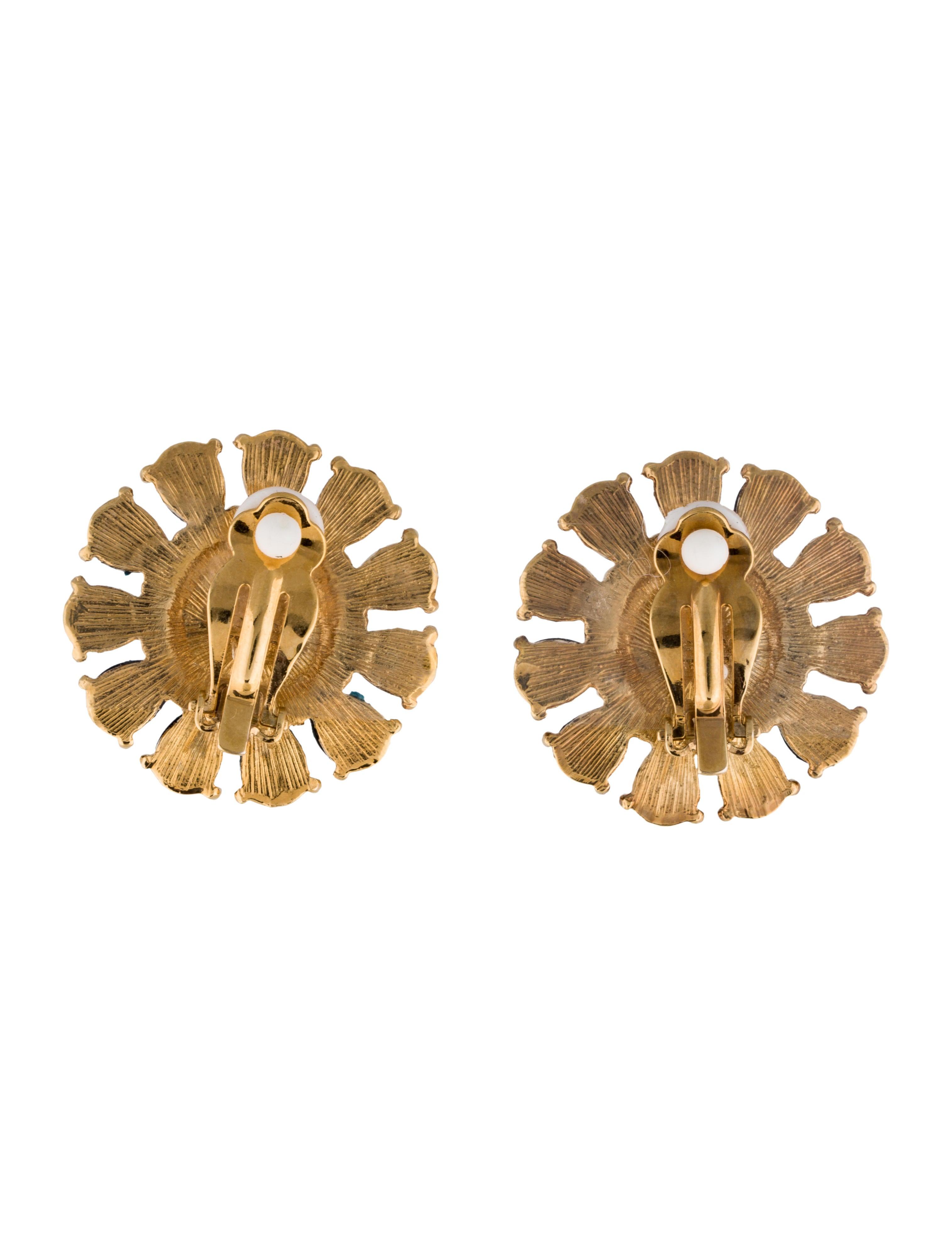 kate spade new york resin clip on earrings earrings