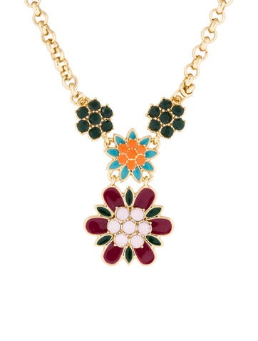 Kate Spade New York Crystal Flower Pendant Necklace