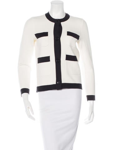 Kate Spade New York Rib Knit Button-Up Cardigan None