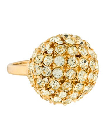 Kenneth Jay Lane Crystal Dome Ring
