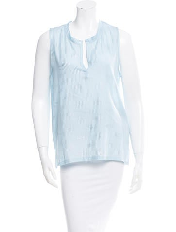 L'Agence Silk Studded Top None