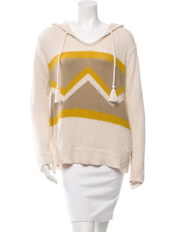 L'Agence Hooded Tassel Sweater None