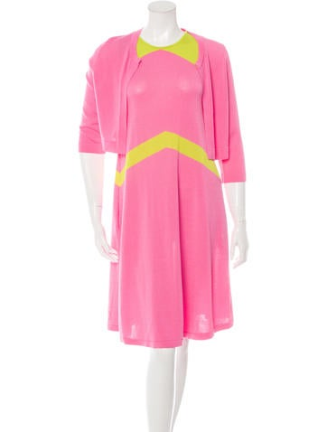 Lisa Perry Colorblock Dress Set None