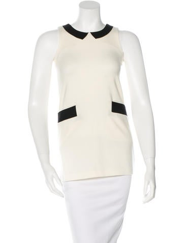 Lisa Perry Knit Colorblock Top None