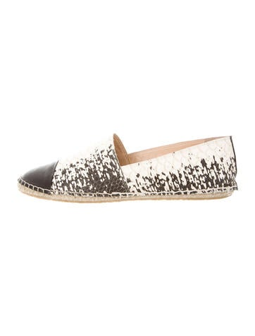 Loeffler Randall Leather Espadrille Loafers None