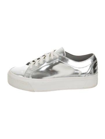 Loeffler Randall Metallic Round-Toe Sneakers None