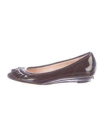Loeffler Randall Patent Leather Round-Toe Flats None
