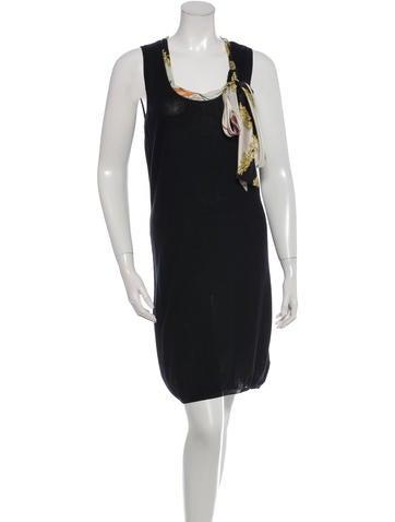 Love Moschino Tie-Accented Sleeveless Dress None