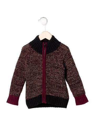 Little Marc Jacobs Boys' Chunky Knit Zip Cardigan w/ Tags None