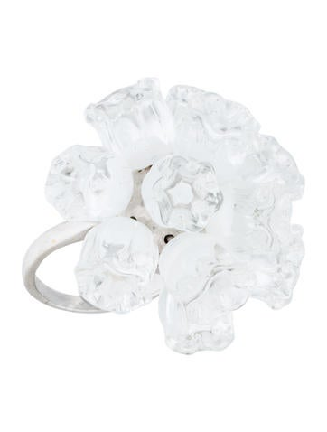 Lalique Muguet Pompom Ring None