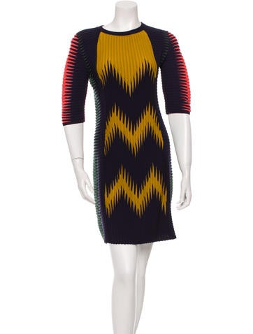 M Missoni Patterned Knit Mini Dress w/ Tags None
