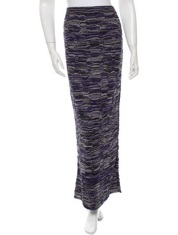 M Missoni Tricolor Knit Skirt w/ Tags None