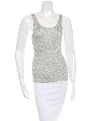 M Missoni Rib-Knit Sleeveless Top None