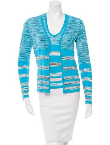 M Missoni Two-Piece Patterned Cardigan Set None