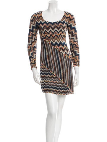 M Missoni Wool Patterned Dress None