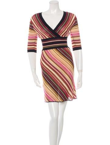 M Missoni Knit Patterned Dress None