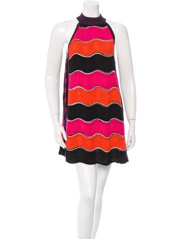 M Missoni Patterned Shift Mini Dress None