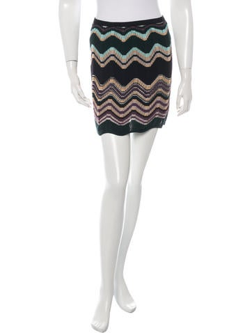 M Missoni Rib Knit Mini Skirt None