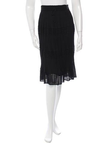 M Missoni Knit Knee-Length Skirt w/ Tags None