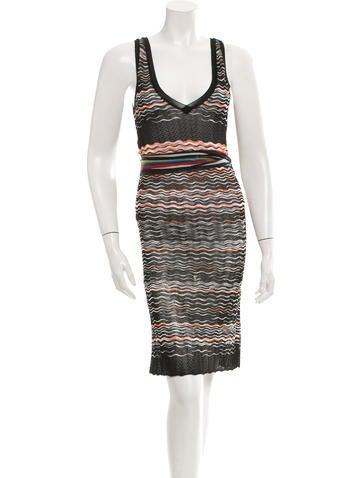 M Missoni Pattered Mini Dress None