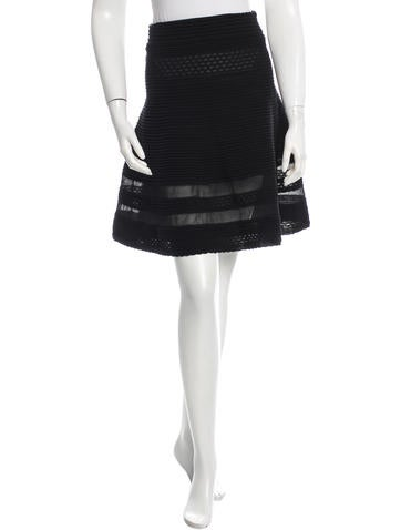 M Missoni Flared Sheer-Accented Skirt None