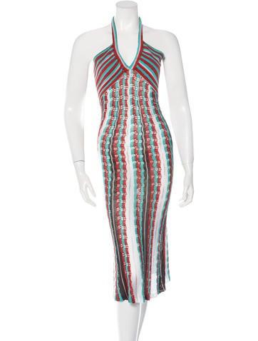 M Missoni Rib Knit Halter Dress None