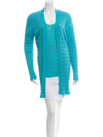 M Missoni Open-Front Knit Cardigan Set None