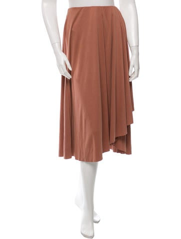 By Malene Birger Pleat-Accented Midi Skirt w/ Tags None