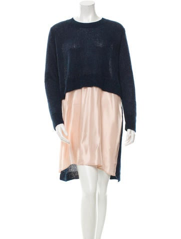 MM6 by Maison Martin Margiela Knit Long Sleeve Dress None