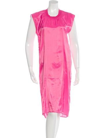 MM6 by Maison Martin Margiela Satin Midi Dress None