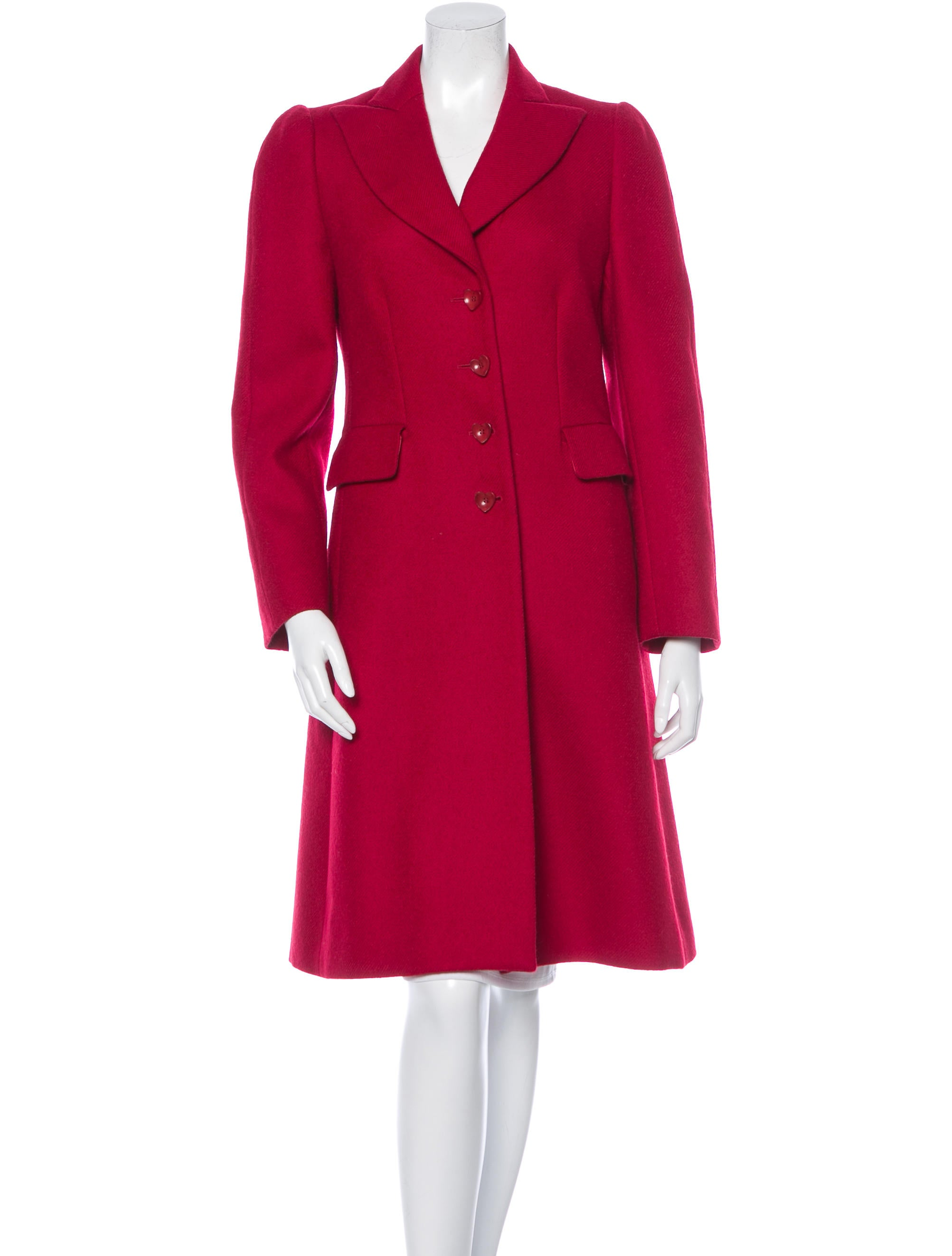 moschino cheap and chic wool coat clothing