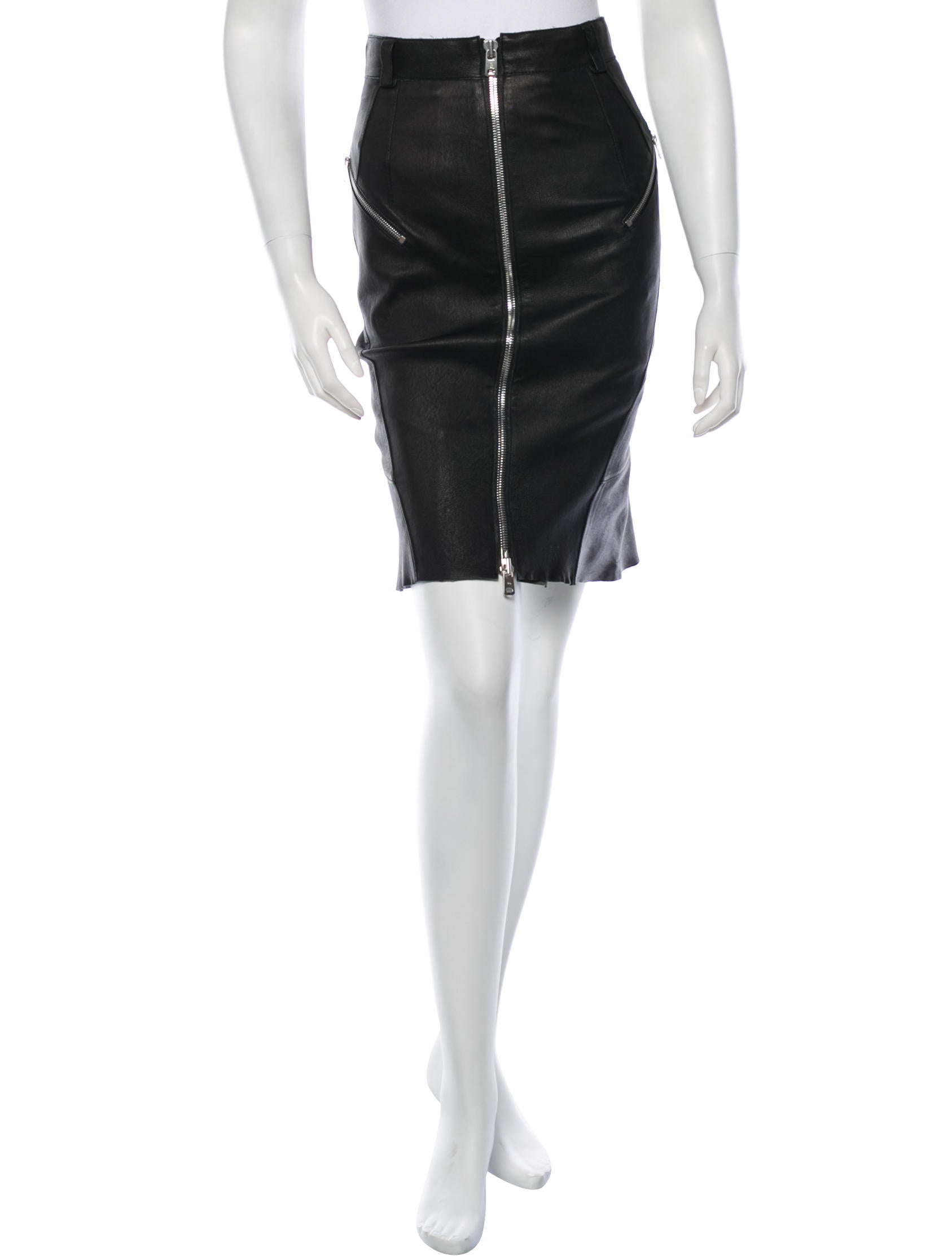 mcq by mcqueen leather skirt clothing
