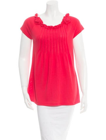 Magaschoni Ruffled Knit Top None
