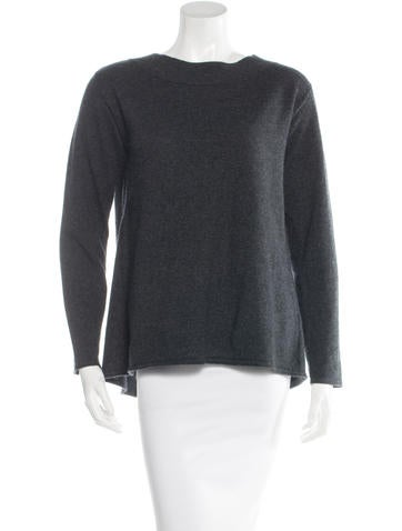 Magaschoni Cashmere Slit-Back Sweater None