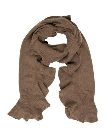 Magaschoni Ruffle-Accented Cashmere Scarf None