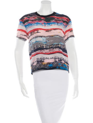 Opening Ceremony Silk Short Sleeve Top None