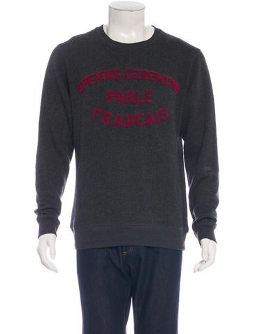 Opening Ceremony Typography Wool-Blend Sweater None