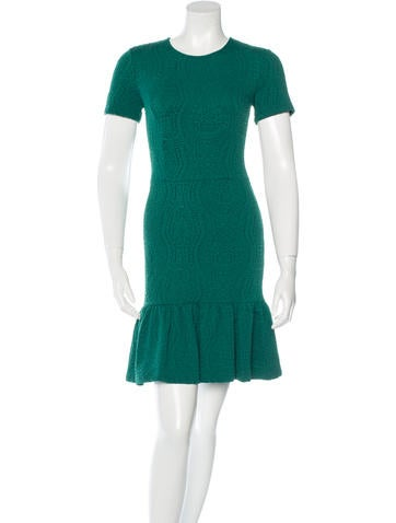 Opening Ceremony Knit Textured Flounced Dress None