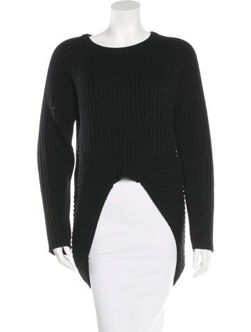 Oak Wool High-Low Sweater None