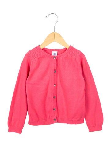 Petit Bateau Girls' Rib Knit Button-Up Cardigan None