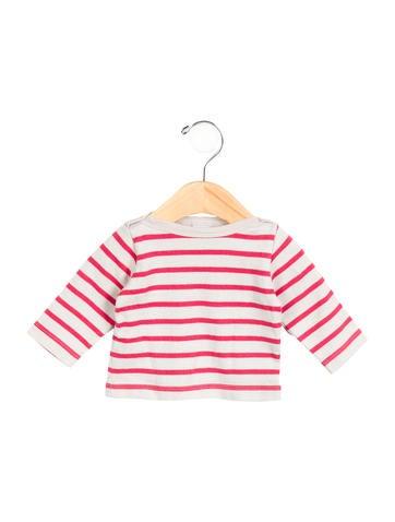 Petit Bateau Girls' Striped Long Sleeve Top None