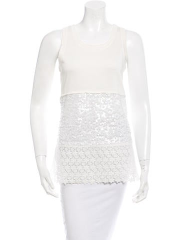 Philosophy di Alberta Ferretti Embellished Rib Knit Top None
