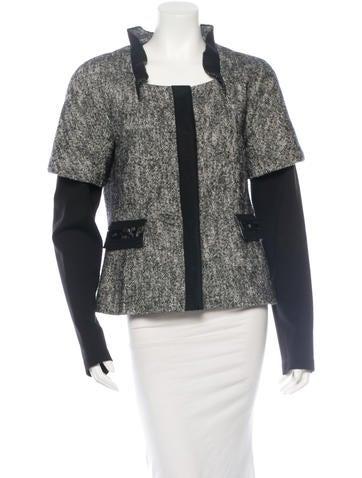 Philosophy di Alberta Ferretti Knit Layered Jacket None