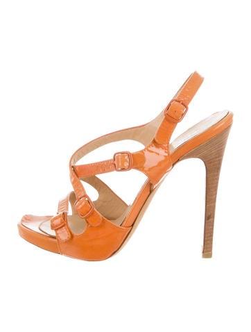 Philosophy di Alberta Ferretti Patent Leather Multistrap Sandals None