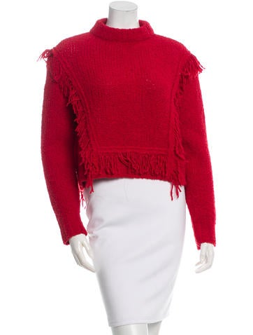 Philosophy di Alberta Ferretti Wool & Alpaca Fringed Sweater None