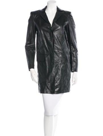 Philosophy di Alberta Ferretti Longline Leather Jacket w/ Tags None