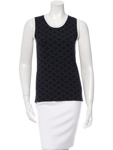 M.PATMOS Patterned Sleeveless Top None