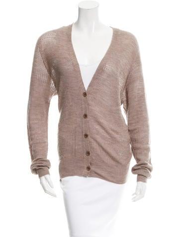 M.PATMOS Wool Open Knit Cardigan None