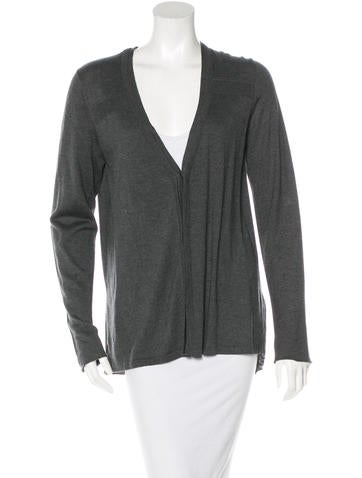 M.PATMOS Cashmere & Silk-Blend Pleated Cardigan w/ Tags None