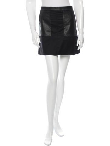M.PATMOS Leather Panel Mini Skirt None